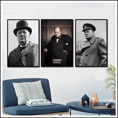 日本製畫布海報 英國首相 溫斯頓 邱吉爾 Churchill 掛畫 無框畫 @Movie PoP 賣場多款海報~
