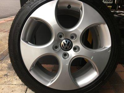 福斯 原厰17吋鋁圈含胎 VW Golf GTI Passat Touran Tiguan Caddy T4 SKODA