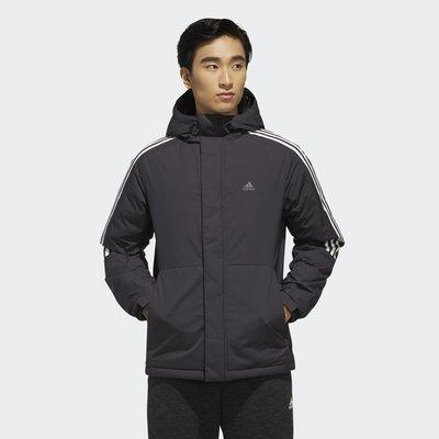 【R.T.G】ADIDAS 3ST DOWN JACKET 羽絨外套 黑色 鴨絨 可拆連帽 保暖 男款 EH3995