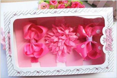 ☆草莓花園☆女童髮帶 時尚可愛花朵蝴蝶結頭飾 百搭款 花色組合12  附精美外盒