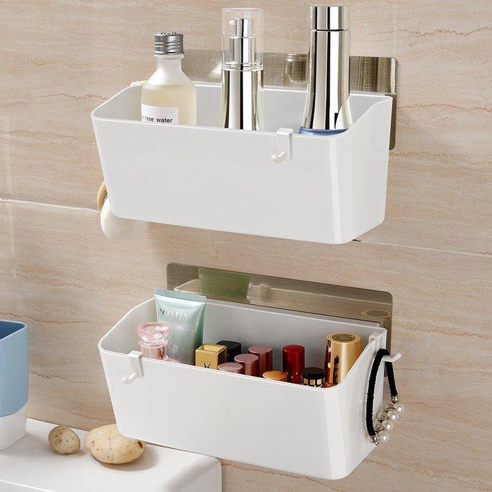 【家居優品】吸盤式收納架廚房免打孔墻上塑料壁掛架廁所衛生間浴室置物架