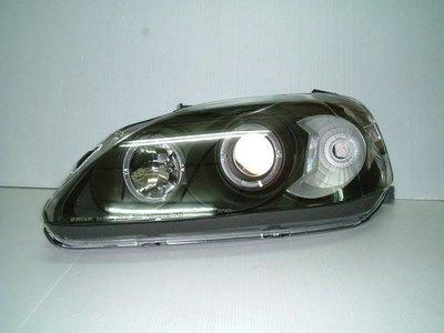 ~~ADT.車燈.車材~~喜美HONDA K8 96~00 LED光圈魚眼大燈一組3300 晶鑽/黑底兩種款式