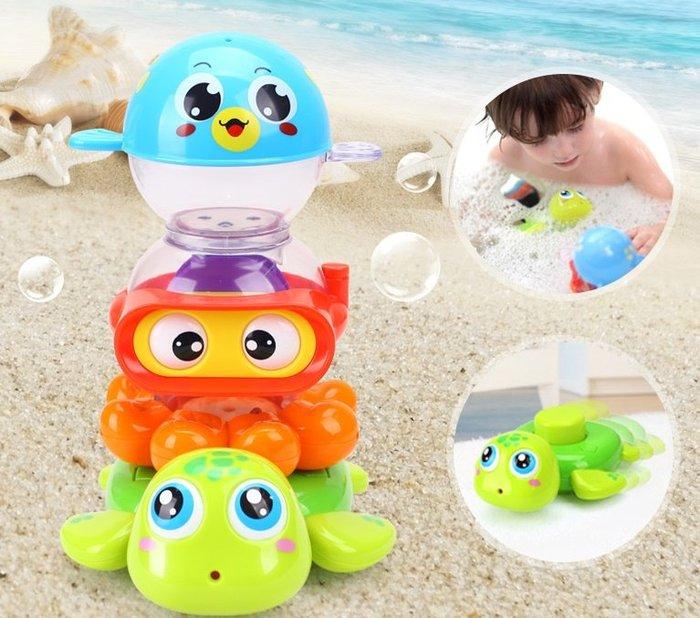 匯樂寶寶戲水玩具~超有趣的洗澡玩具~可愛的噴水小烏龜+小章魚+小河豚是寶寶洗澡好夥伴~◎童心玩具1館◎