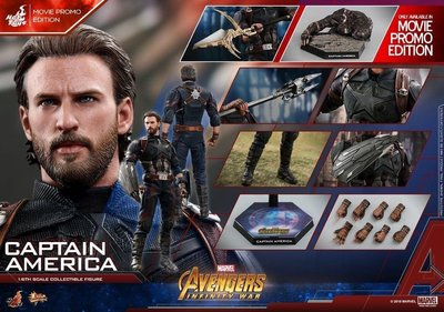 全新未開 會埸版 Hottoys Infinity War hot toys Captain America (Movie Promo) 美國隊長