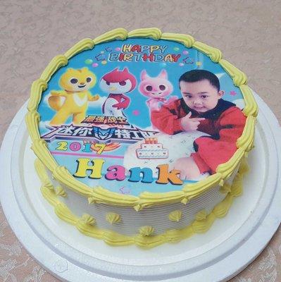 六吋 迷你特攻隊 +人像 生日 相片 卡通   造型  蛋糕