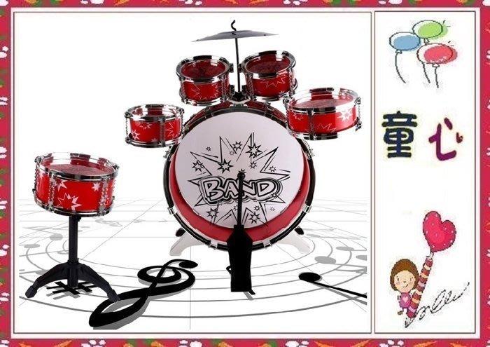 小男生的最愛~兒童動感爵士鼓 架子鼓~六鼓新款上市~帶凳子組合套裝 敲打鼓音樂玩具◎童心玩具1館◎