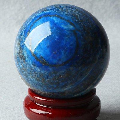 水晶天然大規格青金石擺件 原石打磨圓球擺件 水晶飾品禮物