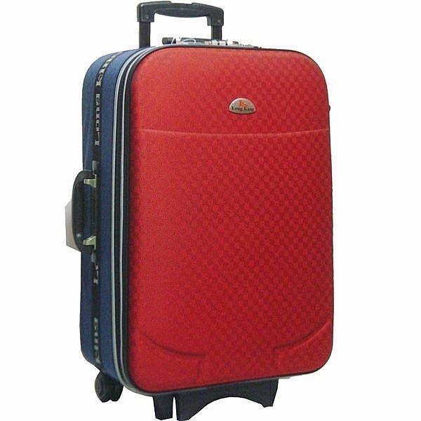 【葳爾登】25吋LongKing旅行箱防磨耐撞登機箱可加大容量行李箱永不退流行款25吋8211紅藍色