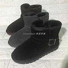 litterluck-韓國專櫃2019秋冬新款復古簡約加絨加厚防滑耐磨保暖雪地靴女潮