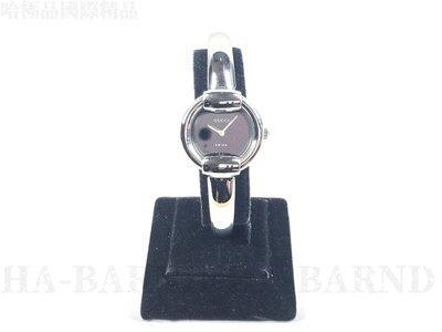 【哈極品】二手品《GUCCI 古馳 竹節 造型 手環/手鐲/石英錶/鋼錶 1400L》