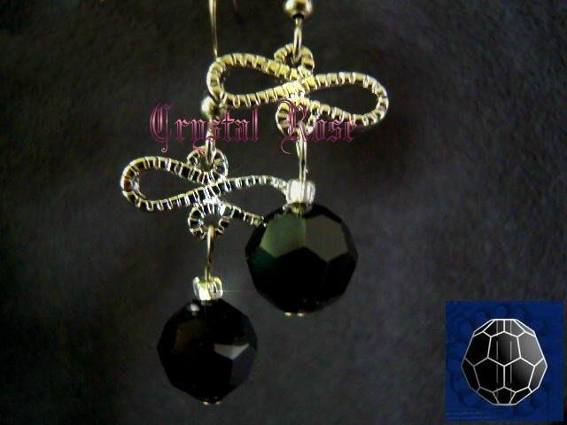 ※水晶玫瑰※ SWAROVSKI 8mm水晶珠 耳勾式針式耳環(DD339)~出清~三對免郵