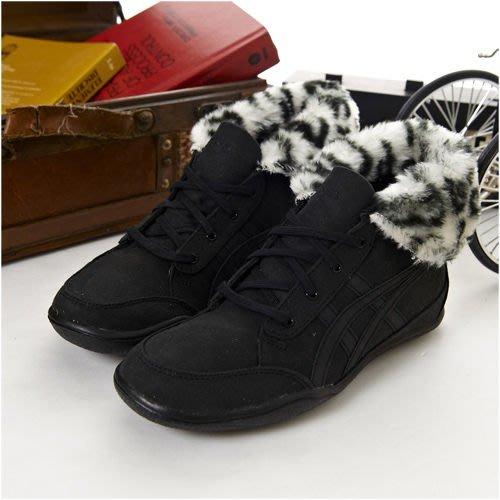 利卡夢鞋園–asics時尚鞋--PLUMPDOG--黑--TQA319-9090--女--22.5 號