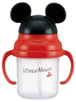 【Tokyo Speed】迪士尼 Disney 米奇造型 吸管式兒童學習水壺 學習杯230ml-現貨