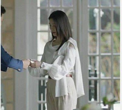 王漫妮江疏影三十而已同款衣服白色燈籠袖雪纺襯衫
