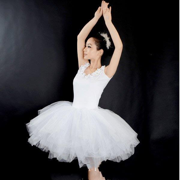 5Cgo【鴿樓】會員有優惠 42483860669 芭蕾舞蹈裙 成人芭蕾天鵝湖演出服成人吊帶花瓣芭蕾舞短裙 芭蕾舞衣