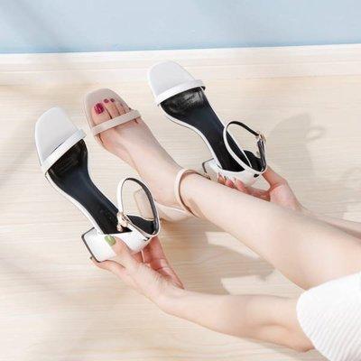 【ZEU'S】復古粗跟一字扣涼鞋『 07219403 』【現+預】GA
