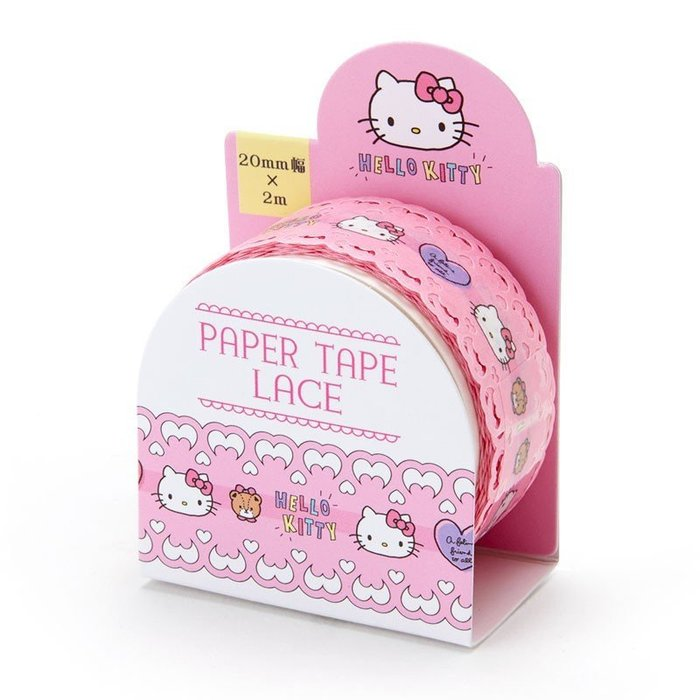 X射線【C076040】Hello Kitty 蕾絲紙膠帶,DIY/手作/文創/文具/貼紙/紙膠帶/佈置/小物/禮品包裝