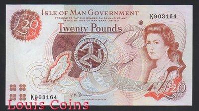 【Louis Coins】B636-ISLE OF MAN--2002男人島(曼島)紙幣20 Pounds