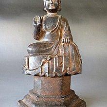 【 金王記拍寶網 】J3019  中國古代佛像銅雕  釋迦牟尼佛一尊 罕見 稀少