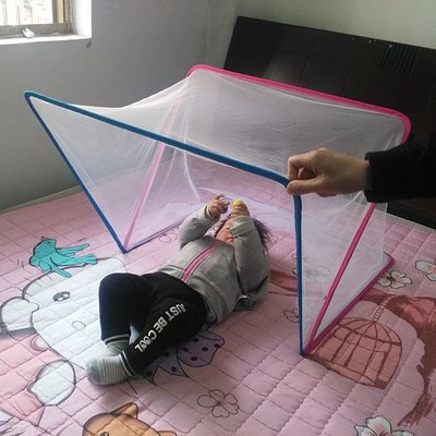 嬰兒蚊帳罩蒙古包寶寶兒童蚊帳嬰兒床蚊帳加密無底旋開折疊0-4歲—莎芭
