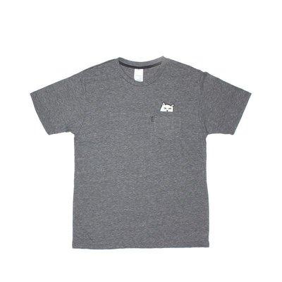 Rip N Dip - LORD NERMAL 中指貓 灰色 口袋TEE 現貨販售【 LOYALTY 】