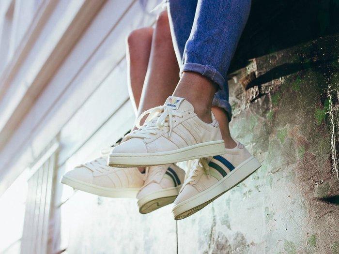 [Roen羅恩代購] Adidas CAMPUS Pride 低調時尚 淺咖麂皮復古板鞋 情侶鞋 點點彩紅