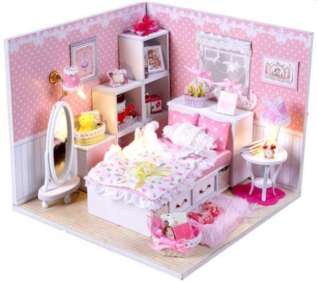 手巧家 DIY袖珍屋_粉紅夢想 娃娃手做玩具迷你手工動手做模型創意禮物節慶女友情人節生日禮物浪漫小物