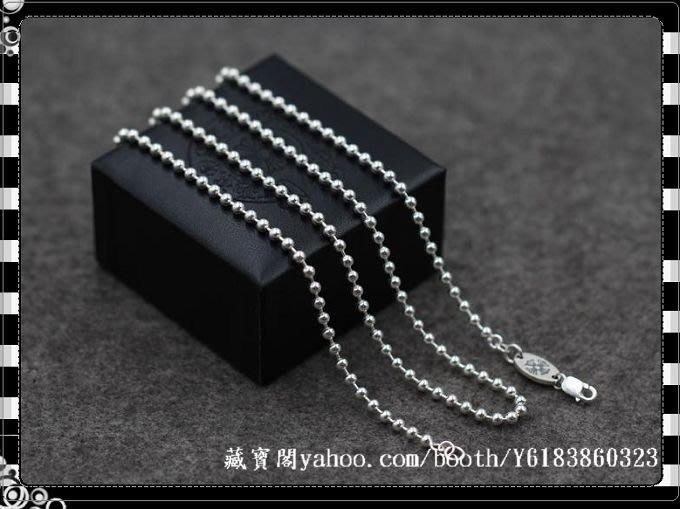 [SHINE-Silver  ]BigbangGD權志龍示範 克羅心風格 925純銀 百搭圓珠項鏈