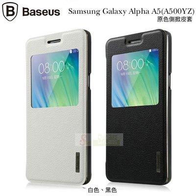 s日光通訊@BASEUS原廠 Samsung Galaxy A5 A500Y 倍思原色側翻視窗皮套 超薄側掀保護套