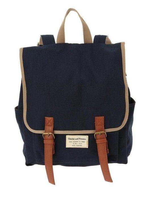 出口日本正品樂天網學院風學生書包休閒帆布女小清新雙肩包後背包