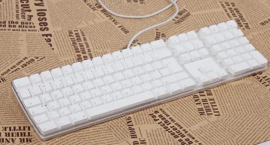英文版 蘋果APPLE A1048/G5 USB有線鍵盤 有數字小鍵盤 弧形 超好按 簡易包裝 近全新