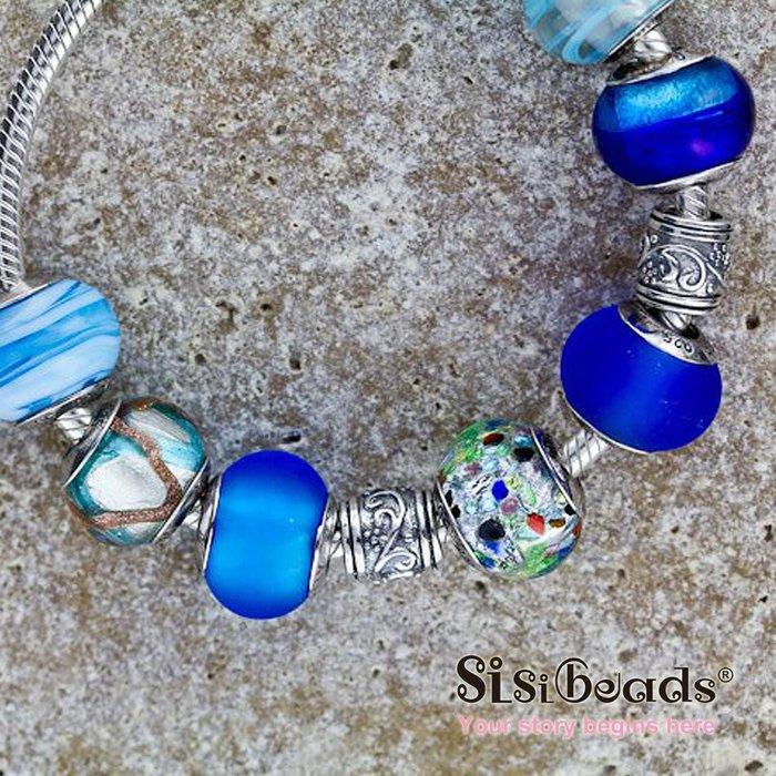 Sisibeads荷蘭純銀品牌 適PANDORA潘朵拉SOUFEEL 義大利 彩繪藝術琉璃
