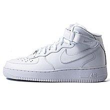 D-BOX  Nike W Air Force 1 Mid 空軍 板鞋 皮革 高筒 純白 366731-100