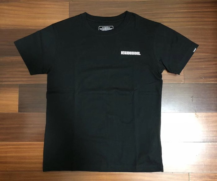 日本neighborhood 新款ichiban東京一番黑色短袖T恤tee