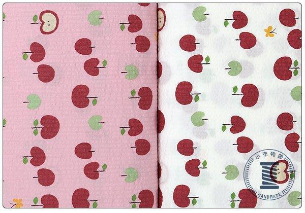 ✿小布物曲✿可愛小蘋果 純棉印花布 泡泡布 窄幅110CM 日本進口質感優 共4色 單價/尺