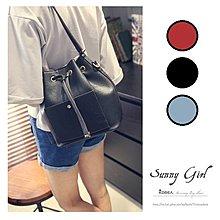 ***Sunny Girl*** [WB0255] 六月.歐美春夏新款時尚百搭簡約純色單肩包水桶包側背包斜肩包 三色