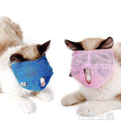 最新上架~~狗嘴套 貓咪洗澡美容眼罩防咬口罩嘴套打針剪指甲頭套保護罩寵物貓咪用品