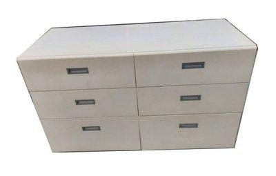 樂居二手家具(北) 便宜2手傢俱拍賣B93005白色六抽斗櫃 鞋架 櫥櫃*收納櫃 客廳家具 茶几 沙發 電視櫃