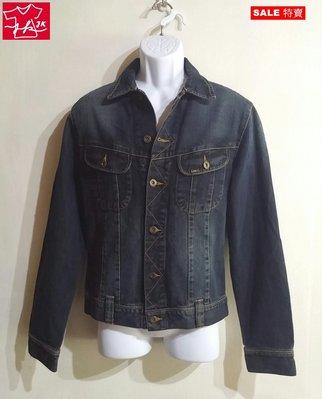 專櫃品牌 Lee 牛仔外套 經典 柔軟舒適款-男款-M-古灰藍【JK嚴選】LV 鬼洗