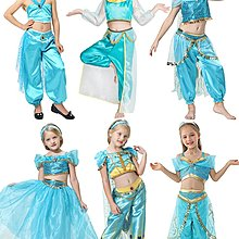 成人兒童cos茉莉公主服裝一千零一夜阿拉丁神燈衣服肚皮舞演出服