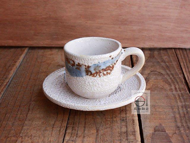+佐和陶瓷餐具批發+【XL070924-24志野流水咖啡組-日本製】日本製 咖啡杯 食器 茶杯組 單品咖啡杯