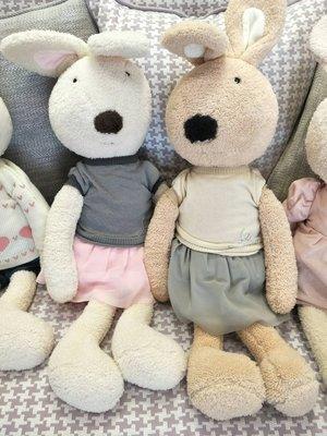 (專屬賣場) 日本le sucre法國兔60cm -灰白毛衣紗裙*2 ~直購價$1198
