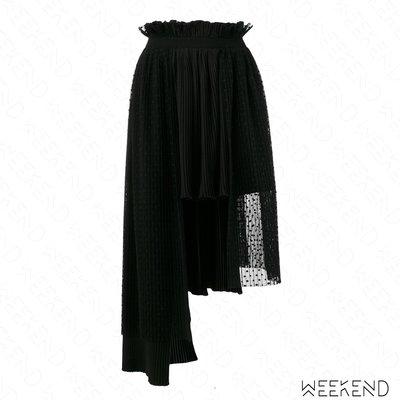 【WEEKEND】 PARLOR 多層 不規則下擺 短裙 半身裙 黑色 18春夏新款