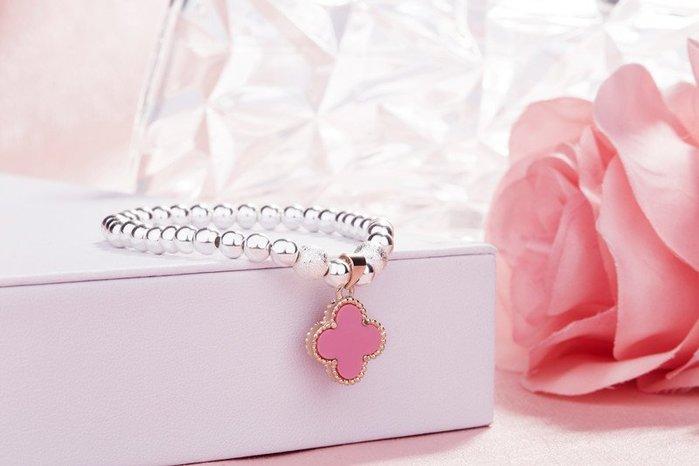衣萊時尚- S925純銀手鏈女轉運珠銀飾品韓國爆款手鏈送學生女友閨蜜禮物