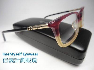 Agnes b AB 7021 brow line spectacles Rx prescription frame