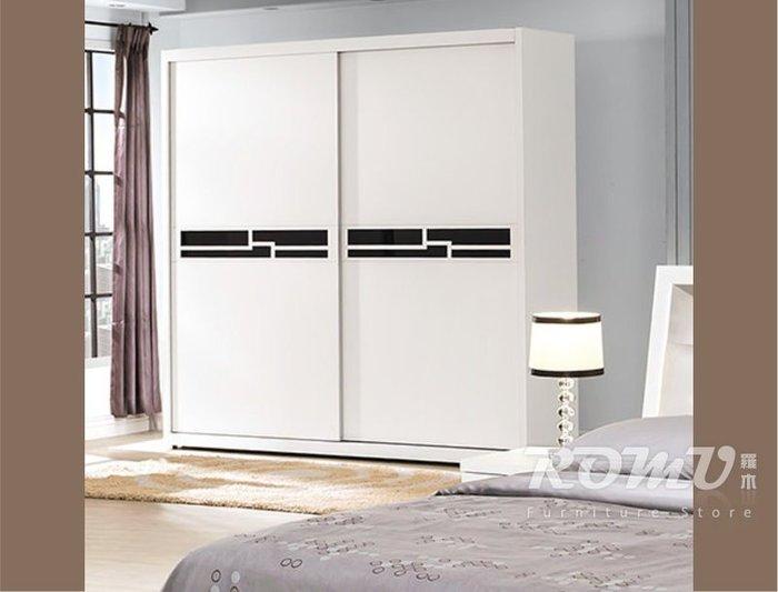 【DH】商品編號VC93-4商品名稱萊特烤白色造型5尺推門衣櫃(圖一)備有同系列/另計。簡約雅緻精品。主要地區免運費