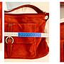 義大利知名品牌Merisa Francis 紅色麂皮肩背包