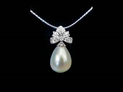 天然珍珠  珍珠鑲鑽女墬