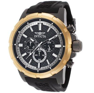 INVICTA 手錶 51mm 鈦金屬 黑面盤 橡膠錶帶 三眼 男錶 20454