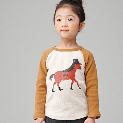 [現貨] (珊蒂的鄉村幸福空間) 正韓休閒可愛動物長袖上衣 黃小馬No.5~15